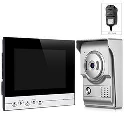 V70RM-L+ Video Door Phone 7 inch HD Screen IR Night Vision C