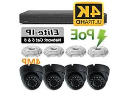 Vandal Proof Dome Surveillance Camera Kit - 4 HD Weather Res
