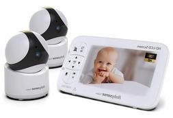Video Baby Monitor with 2 HD Cameras with Remote  & 2 Way Au
