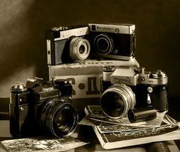 Vintage Retro Cameras Photography HD POSTER