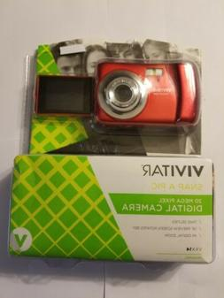 Vivitar VXX14 Snap A Pic Digital 20 Mega Pixel HD Camera red