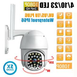 Waterproof Outdoor WiFi PTZ 1080P HD Security Camera Wireles