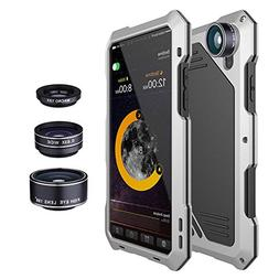 Waterproof Shockproof Metal Case Back Cover with 3 HD Camera