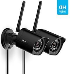 Zmodo 1080p Full HD Outdoor Weatherproof WiFi Wireless Secur