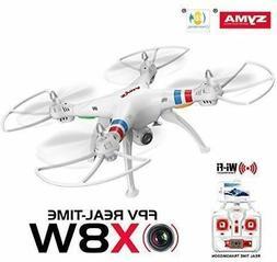 White Syma X8W FPV 2.4Ghz RC Quadcopter Drone UVA 2MP Wifi C