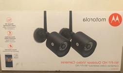Motorola Wi-fi HD Outdoor Video Security Cameras 2-pack