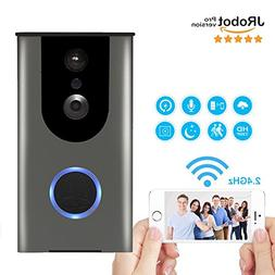 WiFi Video Doorbell,Battery Powered HD Wireless Smart Door B