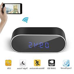 Gogloo HD 1080P WiFi Hidden Clock Camera With Phone/PC Remot