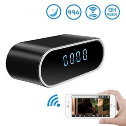 Wireless Security WiFi Hidden Camera Clock,DareTang HD 1080P