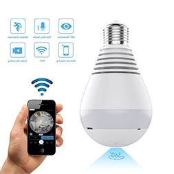 1080P WiFi IP Camera Bulb, Wireless HD Home Security Camera