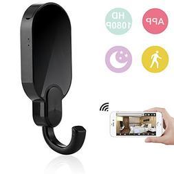 DareTang WiFi Mini Camera Clothes Hook, HD 1080P Security Ca