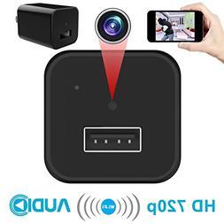 WiFi Wall Charger Camera – Bysameyee Mini Cam Security Ada