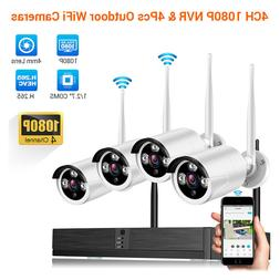 Wireless 1080P Security Camera Video Recorder Night Vision 4