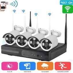 Wireless 4CH 1080P NVR Outdoor Wifi IP Network IR-CUT HD Cam