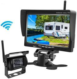 "Wireless Backup Cameras Parking + 7"" HD LCD Car Monitor for"