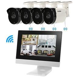 KKmoon Wireless CCTV System 4Channel Wireless CCTV Camera Wi