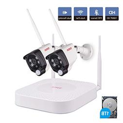 Tonton 1080P Full HD Wireless Expandable Security Camera Sys