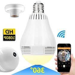 wireless led bulb wifi hidden camera 360 degree panoramic 10