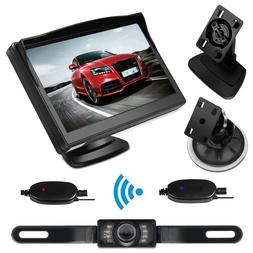 Wireless Rear View Monitor + Waterproof Backup License Plate