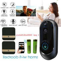 Wireless Smart WiFi Doorbell HD Camera Video Phone Ring IR I
