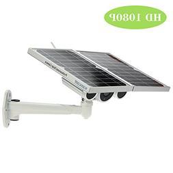 OWSOO Wireless HD 1080P WiFi Solar Battery Power Bullet IP C