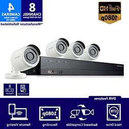 Samsung SDH-B74041 8 Channel 1080p HD 1TB Security Camera Sy