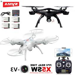 Syma X5SW-V3 2.4G RC Drone Quadcopter with WIFI HD Camera +5