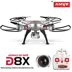 Syma X8G Headless 2.4Ghz 4CH RC Quadcopter with 8MP HD Camer